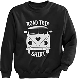 Tstars - 楽しいキャンピングカーシャツ 家族でキャンプ楽しいシャツギフト 楽しいキャンプはキャンピングカー 愉快なキャンプ キッズスウェットシャツ