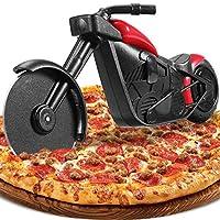 🍕 Lustige Motorrad Pizzaschneider 🏍- Unsere Motorrad Pizzaschneider sind raffiniert als Motorradmuster gestaltet, sehen lebendig und zart aus, schnell und mühelos mit Rädern zu schneiden, ohne die Oberfläche zu beschädigen Schmücken Sie die Pizza und...