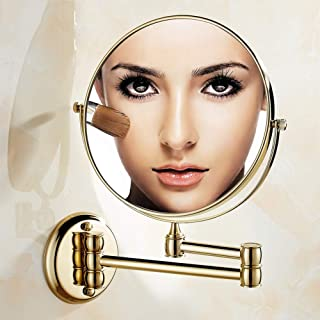 Wall Mounted Bathroom Mirrors Makeup Vanity Magnifying Shaving Mirror Round Mirror 3X 8 Inch Two Sided, 360° Rotatable, Extendable Arm for Bedroom