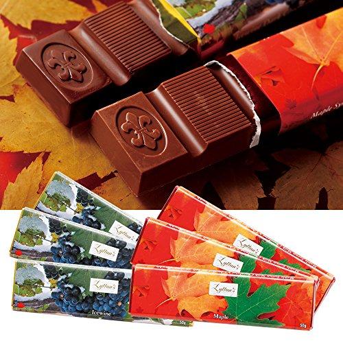 カナダお土産 アイスワイン・メープルシロップチョコレートバー2種 6本セット