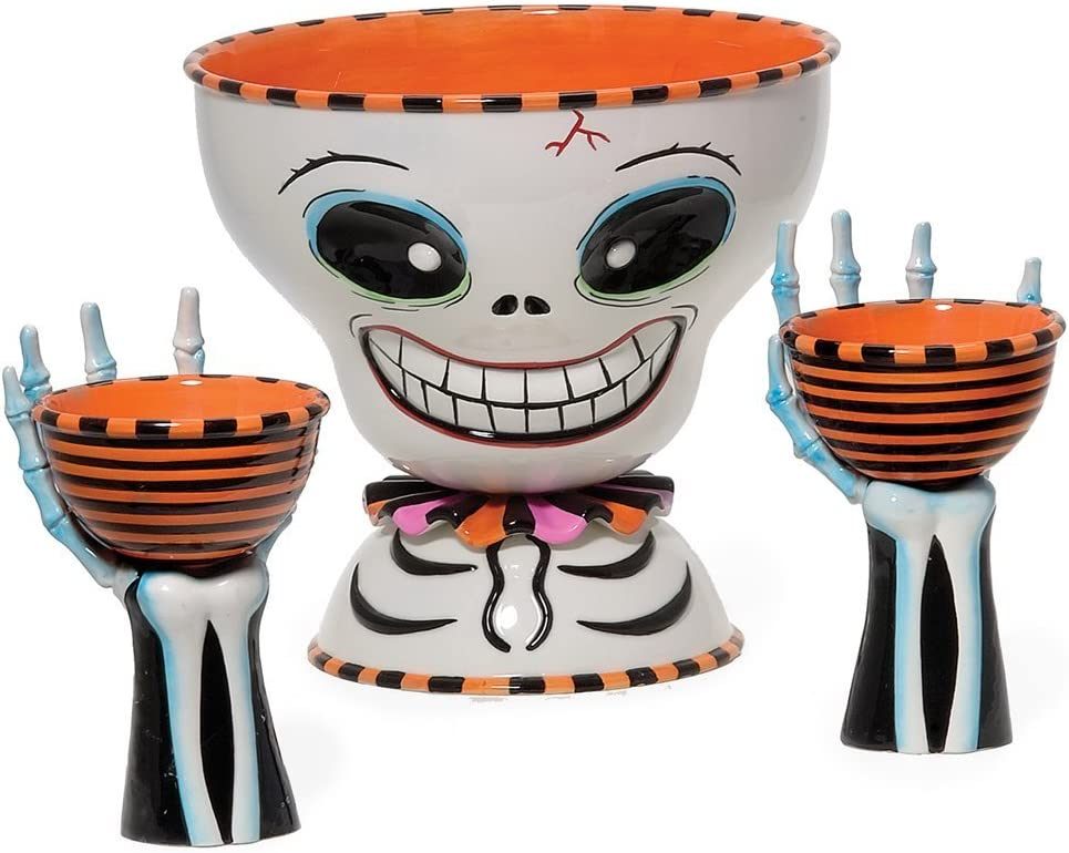 Department 56 Halloween Sale special price Mr. Bones and Dip Set Chip Now on sale