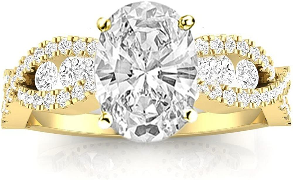1.5 Ctw 14K White Gold Designer Set Twisting Channel Seattle Mall Inexpensive Fo Eternity