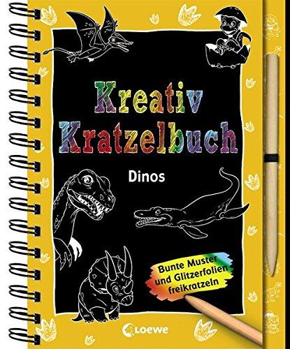 Kreativ-Kratzelbuch: Dinos: Kritz-Kratz-Beschäftigung für Kinder ab 5 Jahre