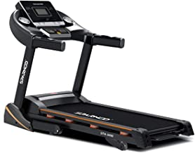 Sparnod Fitness STH-3400 (4 HP Peak) Automatic Treadmill (Free Installation Service) - Foldable Motorized Running Indoor T...