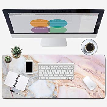 Size : 900x400x3mm JTKDL Desk Pad Thickening Seam Creative Mouse Pad Game Large Cartoon Cute Girl Office Computer Desk Mat