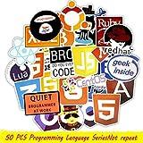 AMOYER 50 langage de Programmation Java Sticker HTML APP Autocollants Programme logiciels pour Ordinateur Portable Geek Téléphone