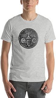 Trump Cyrus The Great Israel Coin Art Front Jerusalem Embassy Shirt Israel 70th Anniversary to Fulfill 70 Years Israel