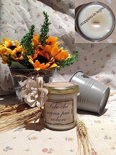Vasetto con candela personalizzabile San Valentino...