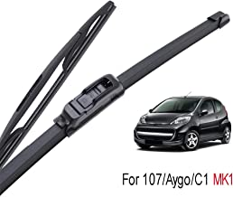 ASDHASXC Windshield Wiper Blades,for Toyota Aygo Peugeot 107 2005 2006 2007 2008 2009 2010,Front Rear Window,for Citroen C1 MK1