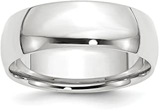 14k White Gold 7mm Comfort Fit Wedding Ring Band Size 11 Classic Fine Jewelry For Women