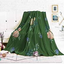 hengshu Bedding Fleece Blanket Queen Size Soft Warm Plush Blanket W47 x L47 Inch