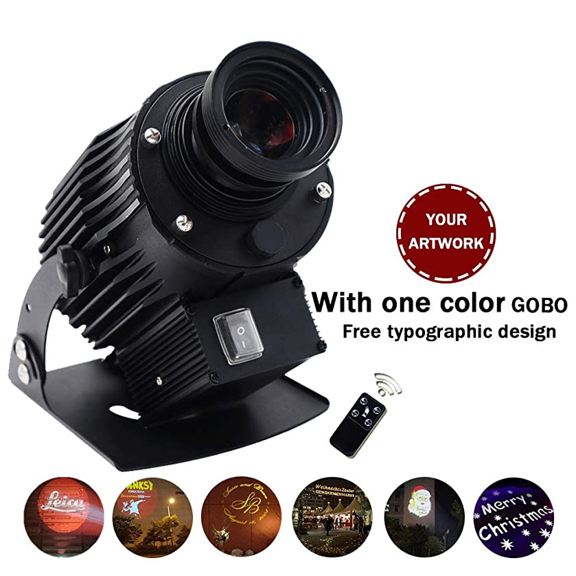 AMAZOIN 60W LED Custom Image Phantom Rotating GOBO Projector Light with Remote Control Customized Gobos for Company Store Wedding Event Advertising