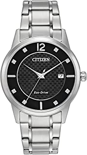 Citizen Men's Analog Eco-Drive Watch with Stainless Steel Strap AW1231-82G