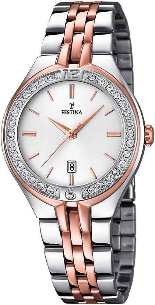 Festina orologio analogico da donna in acciaio inossidabile F16868/2