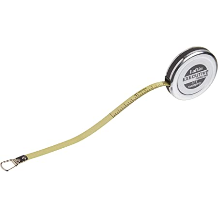 """Crescent Lufkin 1/4"""" x 6' Executive Diameter Yellow Clad A19 Blade Pocket Tape Measure - W606PD"""