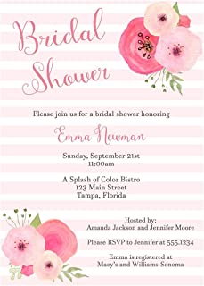 monogram and mimosa bridal shower invitations