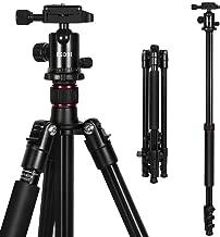 ESDDI カメラ用三脚 4段 中型 アルミ製 一脚可変式&ボールヘッド クイックシュー式 デジタルカメラ ビデオカメラ ナット式ロック 収納バッグ付き 折り畳み可能 運動会 発表会 野外撮影に最適 ブラック
