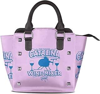 Fucking Catalina Wine Mixer PU Leather Handbag Bag Rivet Shoulder Bags Women's