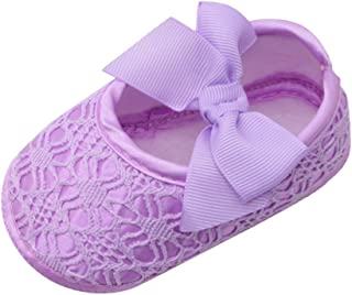 PLOT Newborn Baby Girls Cute Bowknot Shoes Soft Soled Non-