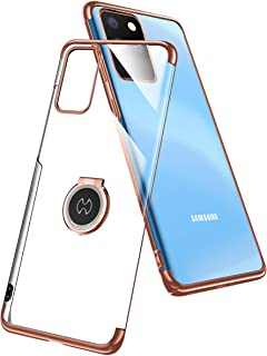 AICASEME for Galaxy S20 Ultra Case, [Support Magnetic Car Mount] Clear Slim Thin Case with Kickstand Ring Holder, Hard PC ...