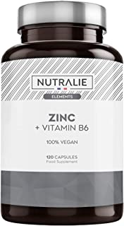 Zinc Puro Vegano Alta Dosis | Antioxidante y Contribuye al Sistema Inmunitario Normal con Zinc Citrato y Vitamina B6 | 120 Cápsulas Veganas Nutralie