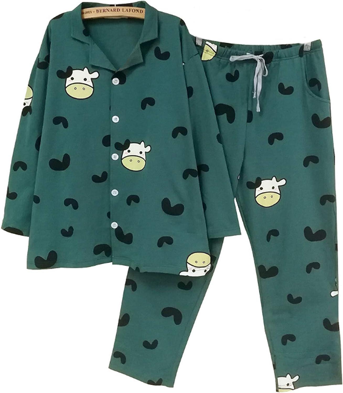 Men'S Pajamas Set For Men 2Pc Sleepwear Dark Green Xl