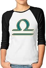 DonSir Libra The Scales Women Baseball Raglan T-shirt Black