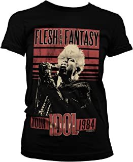 Billy Idol - Flesh for Fantasy Tour 1984 Official Women T-Shirt