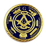 2 Masonic Brotherhood Working Tools 7 Liberal Arts and Sciences Coin for the Freemason by The Masonic Exchange