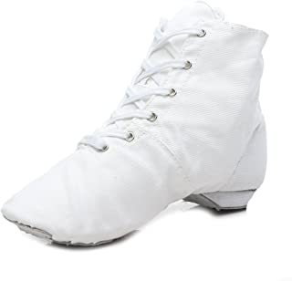 HIPPOSEUS Jazz Shoes Dance Boots Dance Sneakers Lace-up Closed-Toes,Model WZA-JS
