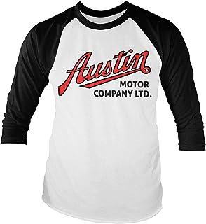 Austin Motor Company - Camiseta de manga larga de béisbol (blanca-negra)