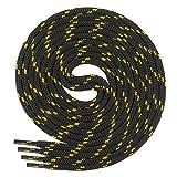 Di Ficchiano runde SCHNÜRSENKEL für Arbeitsschuhe und Trekkingschuhe - sehr reißfest - ø ca. 4,5 mm, Polyester - SP-01-black/yellow-190