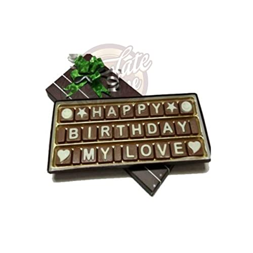 Chocolate Venue Happy Birthday My Love Message (22 x 2.5 x 9 cm)