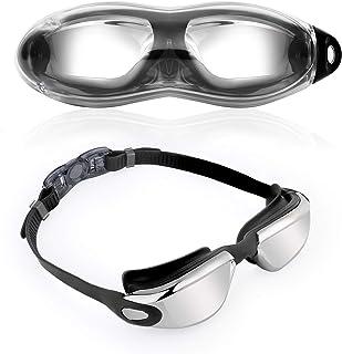 KATELUO simglasögon, profisksimglasögon med UV-skydd och antibeslag-skydd bekväma simglasögon för män kvinnor ungdomar