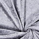 Fabulous Fabrics Pannesamt Silber – Weicher SAMT Stoff