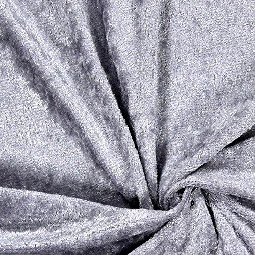Fabulous Fabrics Pannesamt Silber – Weicher Samt Stoff zum Nähen von Kleider, Oberteile, Tücher und Tischdecke - Pannesamt Dekostoff & Bekleidungsstoff - Meterware ab 0,5m