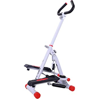 HOMCOM Home Stepper with Handle Hand Grip Workout Fitness Machine Sport Exercise Gym