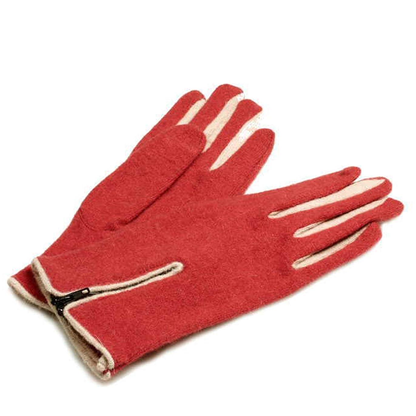 せっかちレイアウト小麦秋と冬レディースフィンガー手袋ショートセクション厚手のウール手袋乗馬ウォーム手袋を運転する
