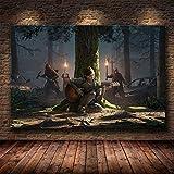 wZUN Nuestro último Juego póster impresión Zombie Supervivencia Horror acción HD póster Lienzo Pintura Mural decoración del hogar 60x90 Sin Marco