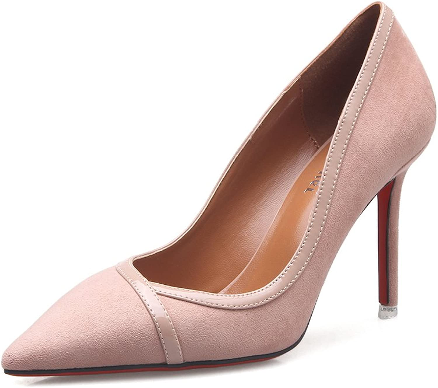 Women's shoes Patent Leather Spring Summer Fall Heels Stiletto Heel Pointed Toe for Casual Office & Career Dress Black, Camel, Bare Powder