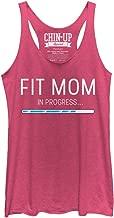 Chin Up Women's Fit Mom in Progress Racerback Tank Top