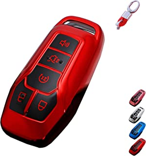 for Ford Key Fob Case Cover, TPU Key Fob Shell Protector Shell Keyless Remote Control Smart Key Holder with Keychain Fit f...