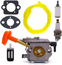 FitBest New Carburetor with Fuel Line Filter for Stihl FS50 FS51 FS61 FS61RE FS62 FS65 FS90 FS96 String Trimmer BG60 BG61 Blower Replaces Walbro WT-38 WT-38-1 Carb