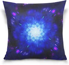 "MASSIKOA Magical Zoomed Mandala in Space Decorative Throw Pillow Case Square Cushion Cover 18"" x 18"" for Couch, Bed, Sofa ..."