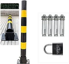 Klappbar Abschlie/ßbar Metall Parkplatz Sperre,Parksperre Mit 4 Schraube,600 /× 110 /× 130Mm ZLLZM Parkplatzsperre