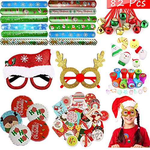 Golray 82 Pcs Assortment Toys for Christmas Kids Party Favors Prizes Box Toy Assortment Classroom Prizes for Kids Classroom Rewards, Stocking Stuffers for Advent Calendar, Pinata Fillers, Treasure Box (Styles Random)