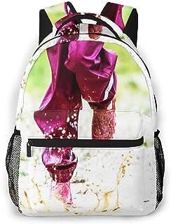 Mochila Tipo Casual Mochila Escolares Mochilas Estilo Impermeable para Viaje de Ordenador Portátil hasta 14 Pulgadas Botas de Goma para niños Rain