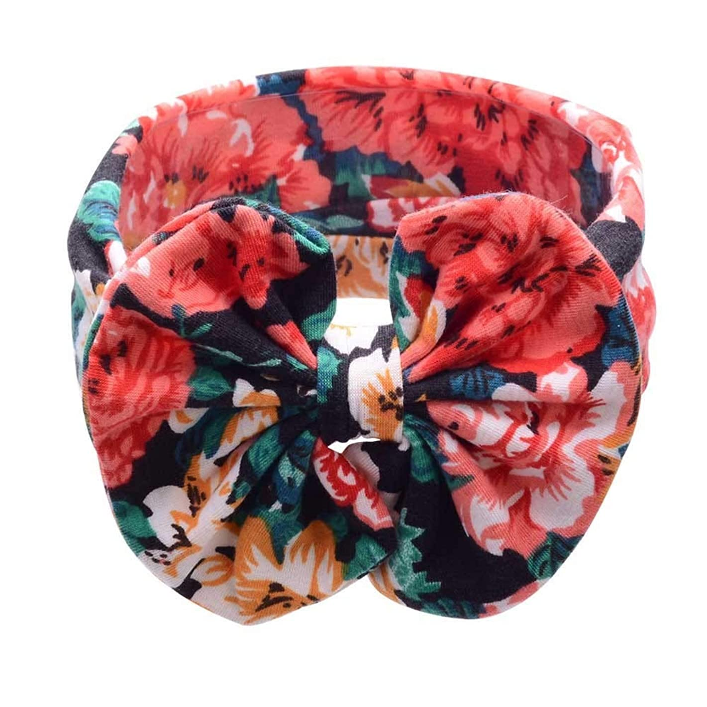 iNoDoZ Baby Girl Bohemian Elastic Bowknot Headband Colorful Print Hair Band Headdress Cute Headwear