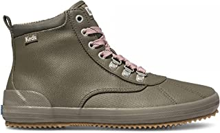 Keds Women's Scout Boot Splash Canvas Ankle, Olive, 8.5