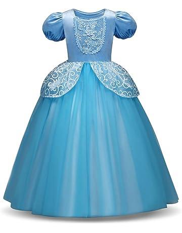 a89250e6a59f6 HelloGO 子供用ドレス コスチューム シンデレラ風 コスプレ プリンセスドレス なりきりワンピース お姫様 ハロウィン パーティー 誕生